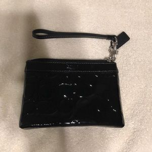 Coach Wristlet black patent leather